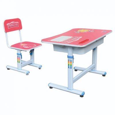 Mẫu bàn học sinh BHS29B-3-GHS29B-3 với màu hồng trang nhã cho bé gái
