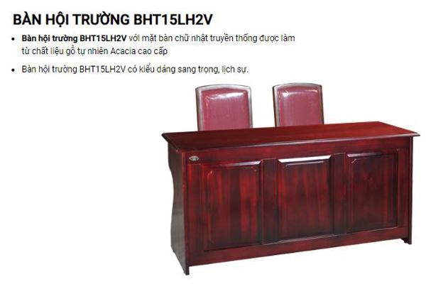 Bàn hội trường gỗ Hòa Phát BHT15LH2V